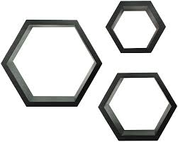 Wall Shelves by Amazon Com Gallery Solutions Black Hexagallery Decorative Wall