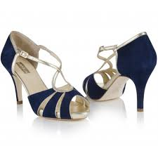 wedding shoes sale by navy midnight blue suede vintage