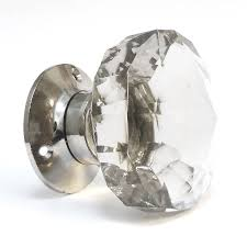 Door Knob Type Faceted Glass Internal Turning Mortice Door Knobs By Pushka Home