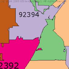 Zip Code Map Victorville Ca   victorville california zip code boundary map ca