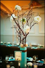Paris Centerpieces Crystal Tree Centerpieces With Manzanita Branches Weddingbee