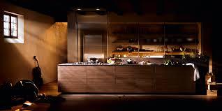 contemporary kitchen stone wooden island artematica noce