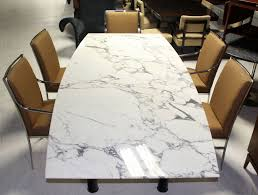 marble conference room table boat shape marble top conference or dining table for sale at 1stdibs