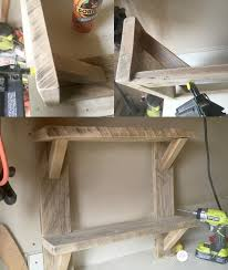 How To Build Wooden Shelf Supports by Easy To Build Wood Shelves My Love 2 Create