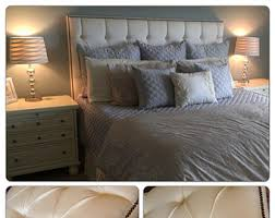 Wingback Tufted Headboard White Wingback Tufted Bed King Size Queen Size Full Size Wing