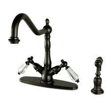 kingston kitchen faucets kingston brass vintage 2 handle standard kitchen faucet in oil