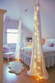 fairy lights mommo design fairy lights with curtains in a girly room