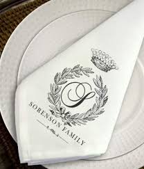 personalized cloth napkins by simply sublime