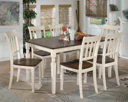 dining room round rustic kitchen table ashley dining table