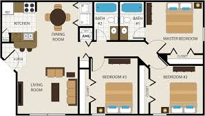 Floor Plans For Apartments 3 Bedroom by Floor Plans Choose From 1 2 Or 3 Bedrooms Timber Point Apartments