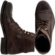brown motorcycle boots for men levis shoe arizona lace up men boot dark brown se super style