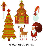 drawings of christmas symbols isolated csp1909703 search clipart