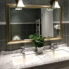 Unique Bathroom Mirror Frame Ideas Large Bathroom Mirror Full Image For Custom Framed Bathroom