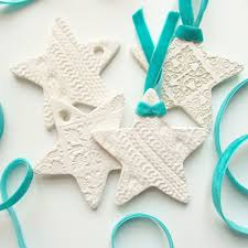 diy embossed clay ornaments crafts