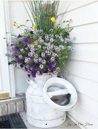 Challenge Flower Pot Monthly Diy Challenge Antique Milk Can Planter In Our Home