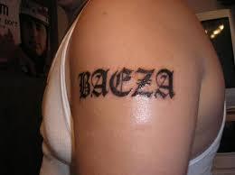 Tattoo Design Ideas For Names Bicep Name Tattoo Ideas