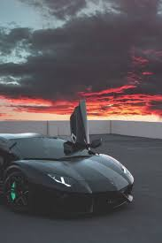 Lamborghini Car Black Cloud Red Cool Image By