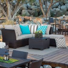 Dark Brown Wicker Patio Furniture by Coral Coast South Isle All Weather Wicker 8 Piece Patio