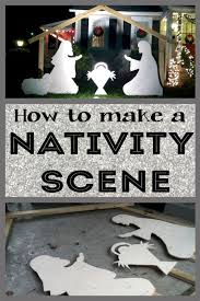 how to make a diy nativity scene for your yard outdoor nativity