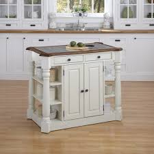Iron Kitchen Island Cool White Kitchen Island With Granite Countertop And Side Shelves