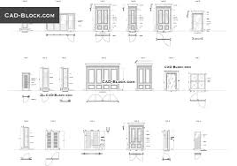 Floor Plan Front View by Doors Cad Blocks In Plan Front View Free Download