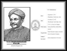 v o chidambaram pillai freedom fighter of tamil nadu india a