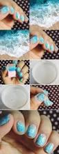 beach waves inspired nail art tutorial alldaychic