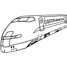 High Speed Train For Passanger Coloring Page Color Luna Rail Color Page