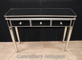 mirrored console vanity table art deco mirrored console dressing table