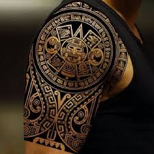 aztec mask tattoo art and designs