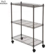 homdox 23 4 x 11 7 x 33 5 inch 3 tier metal wire shelf shelving