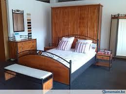 fer forgé chambre coucher chambre à coucher complète bois et fer forgé a vendre 2ememain be