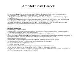 architektur im barock architektur ppt herunterladen