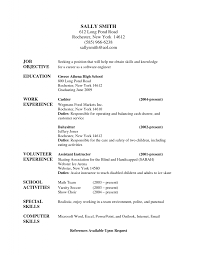 Skills For A Resume Resume For Babysitting Examples Resume For Your Job Application