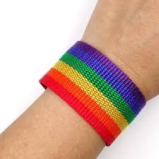 bracelet rainbow images Wide rainbow ribbon cuff bracelet jpg
