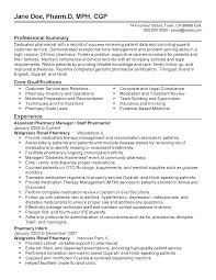 Customer Service Template Resume Professional Assistant Pharmacy Manager Templates To Showcase Your