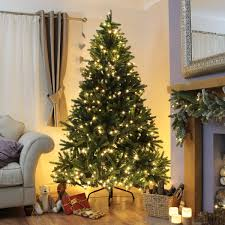 shop pre lit christmas trees with festive lights free delivery