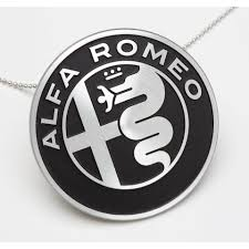 alfa romeo emblem medallion aluminum necklace with logo alfa romeo accessories