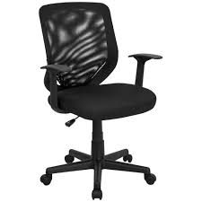 White Mesh Office Chair by Flash Furniture Lf W 95a Bk Gg Mid Back Black Mesh Office Chair
