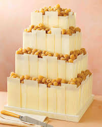beautiful wedding cakes tempered white chocolate panels