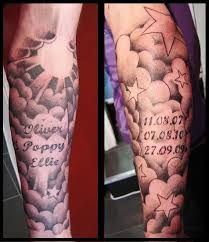 20 cloud tattoos on sleeve