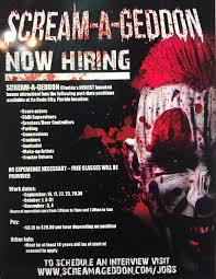 jobs at halloween horror nights screamageddon hashtag on twitter
