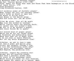 methodist prayer methodist hymn o wondrous power of faithful prayer lyrics with pdf