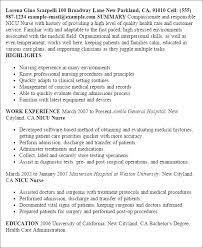 Resume For Nurses Template Professional Nicu Nurse Templates To Showcase Your Talent