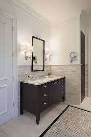 Traditional Bathroom Designs Pictures U0026 by Half Tiled Wall Traditional Bathroom Dark Bathroom Tile Half Wall