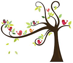birds in a tree wall sticker by spin collective notonthehighstreet