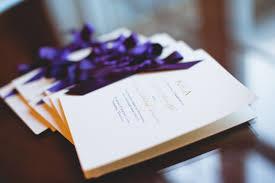 purple wedding programs toned country club virginia wedding ceremony kristen