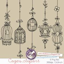 Birdcage Chandelier Shabby Chic Bird Cage Clipart Rustic Wedding Digital Cages Clipart Shabby