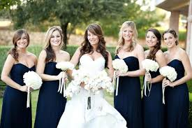 navy blue bridesmaids dresses 20 amazing navy blue bridesmaid dress ideas weddingomania