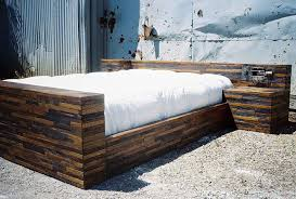 Bed Frames Usa Made From Solid Domestic Reclaimed Oak Built In Stands